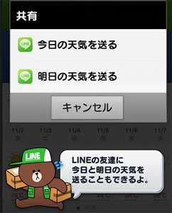 LINE天気の機能