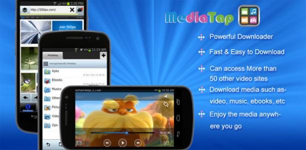 動画や音楽、電子書籍などを簡単にダウンロードできるアプリ『Mediatap』