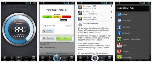 心拍数を調べることができるアプリ『Instant Heart Rate』