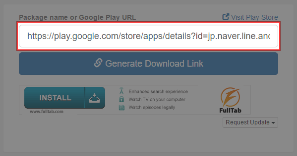 Package name or Google Play URL